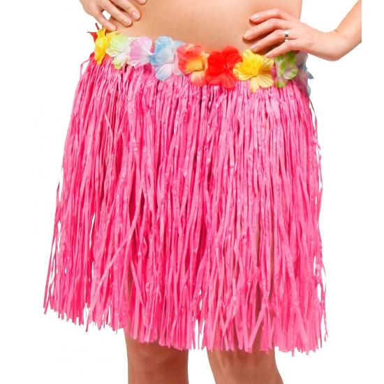 Hawaii rok roze dames 45 cm