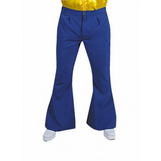 Heren hippie broek blauw