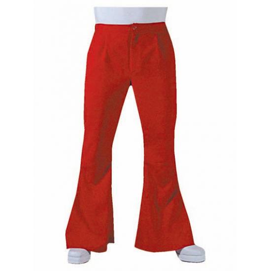 Heren hippie broek rood