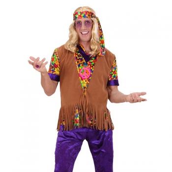 Heren hippie verkleed setje