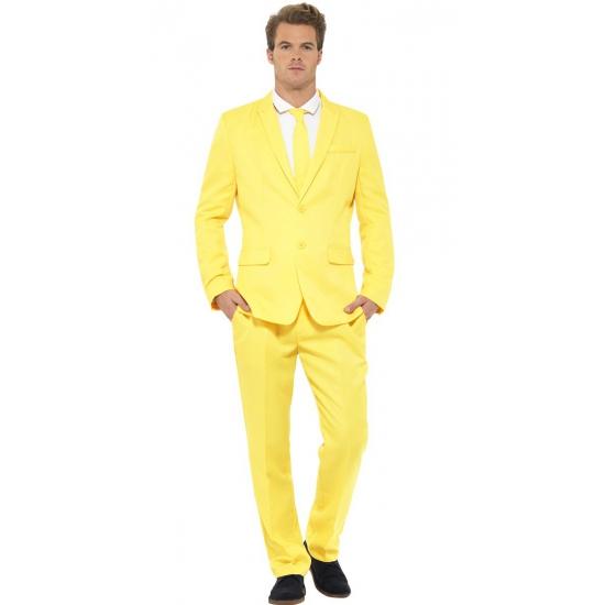 Heren maatpak geel