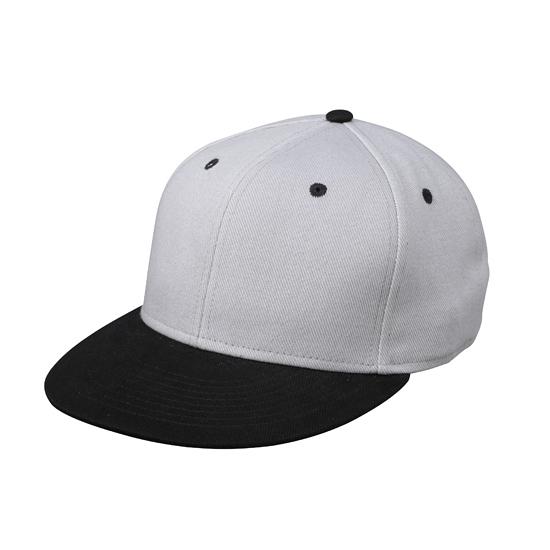 Hippe baseball cap in zilver zwart