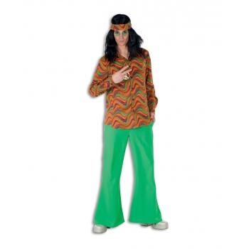 Hippie broek groen voor heren