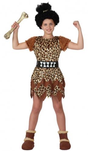 Holbewoner kostuum voor meisjes