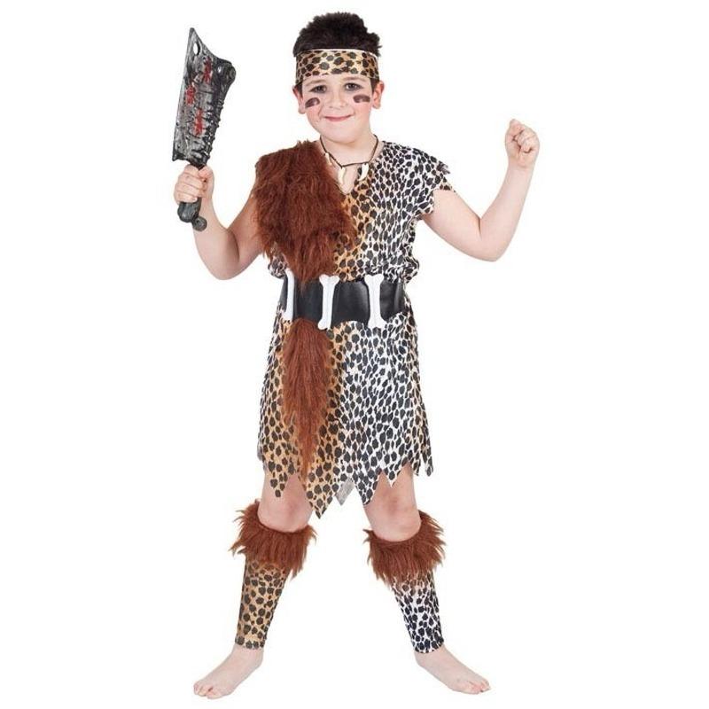 Holbewoner outfit voor kinderen