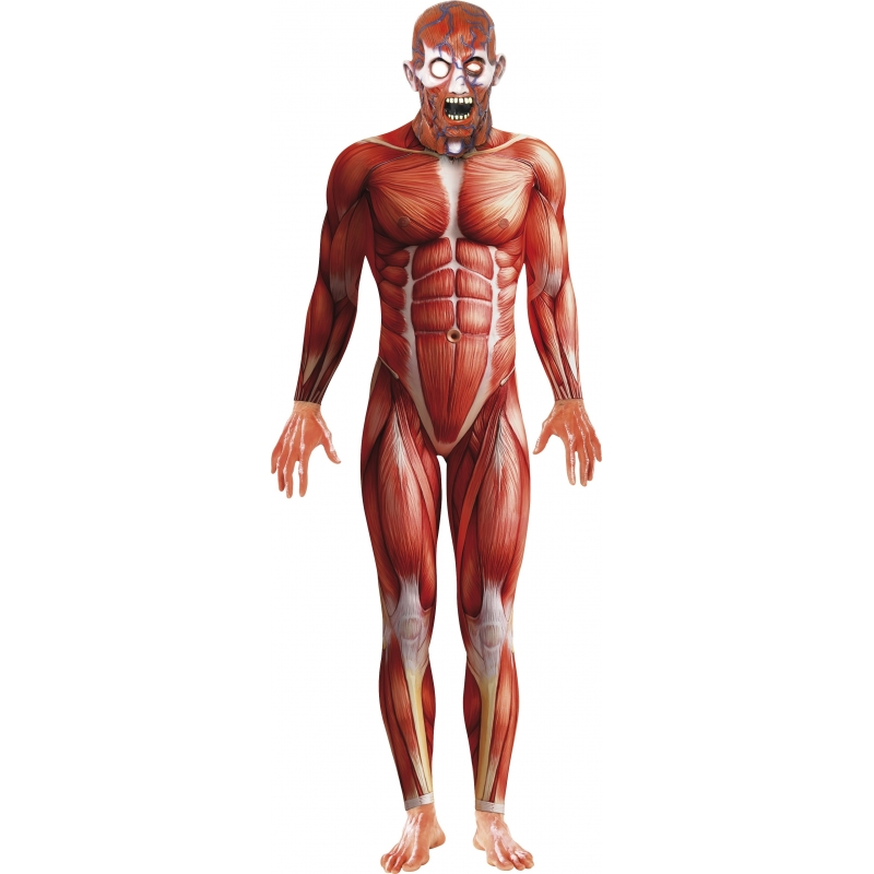 Horror body suit anatomische man