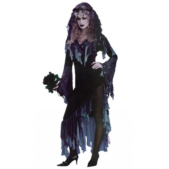 Horror zombie bruid verkleed jurk