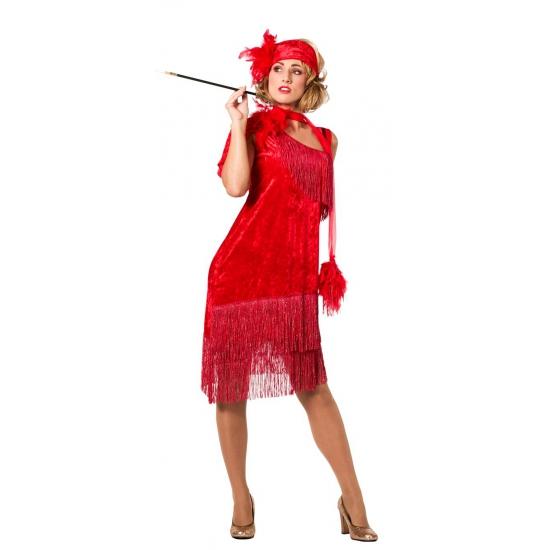 Jaren 20 dames jurkje rood