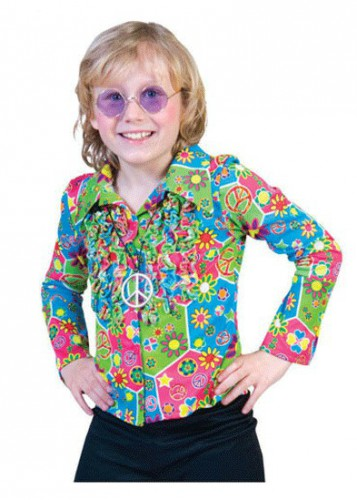 Jaren 60 hippie blouse voor kinderen