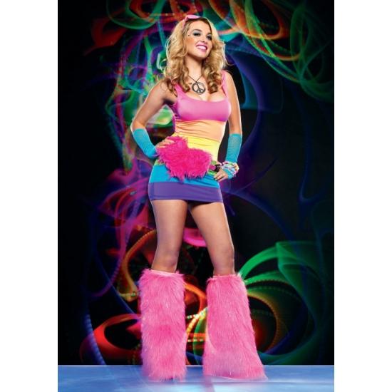 Jaren 60 regenboog jurkjes voor dames