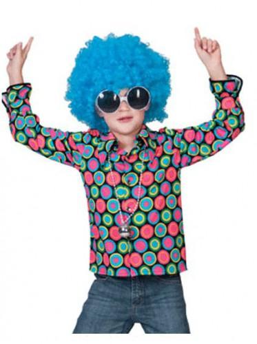 Jaren 70 disco overhemd voor kids
