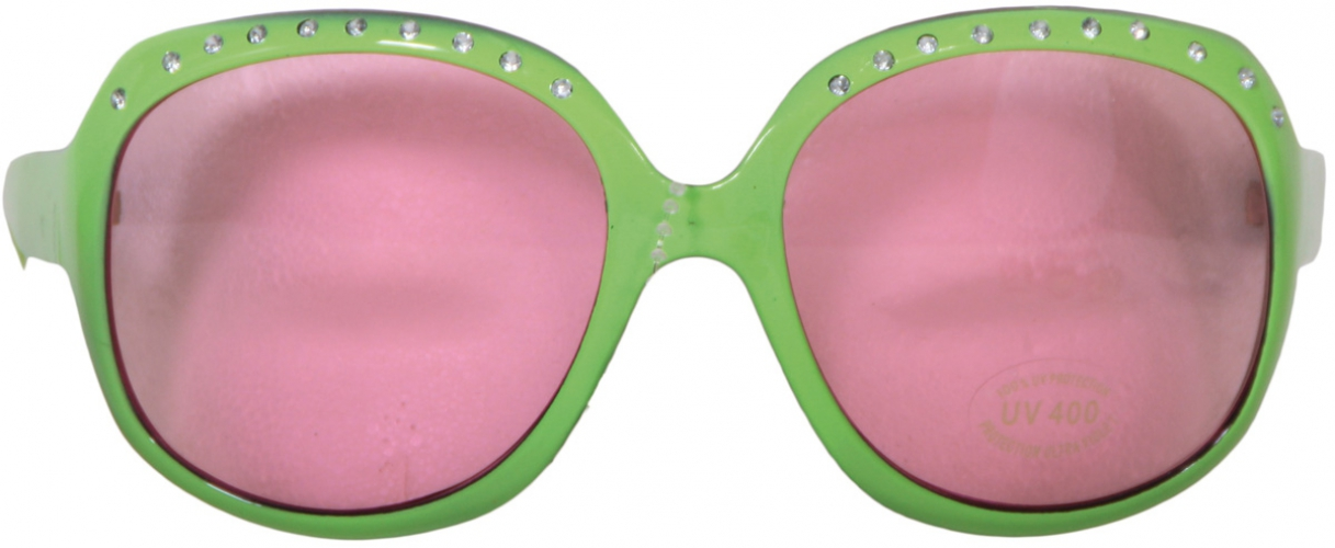 Jumbo groene feestbril