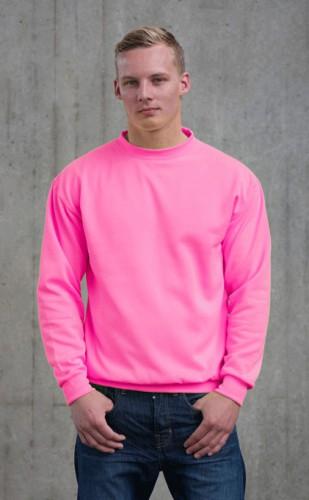 Just Hoods neon roze trui voor heren