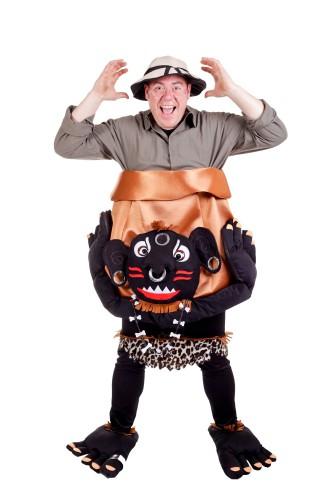 Kannibaal met ketel kostuum