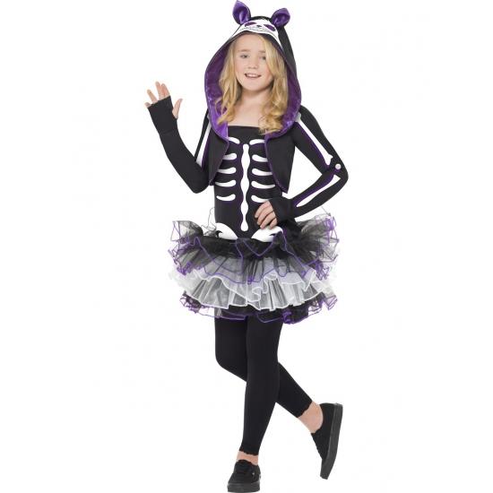 Kat skelet kostuum voor kids