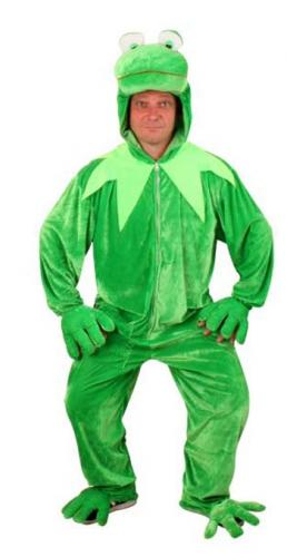 Kermit de Kikker pak van pluche materiaal