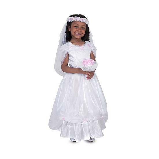 Kids kostuum witte bruidsjurk