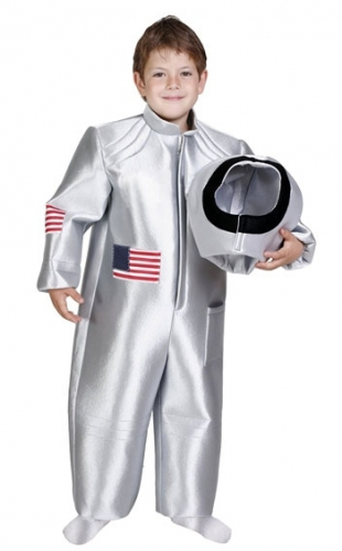 Kinder astronaut kostuum zilver