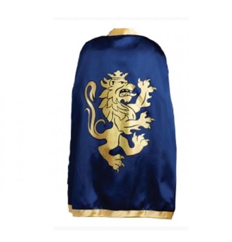 Kinder cape donkerblauw met goud