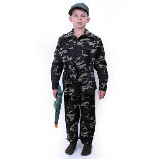 Kinder leger commando kostuum