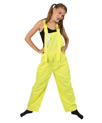 Kinder overall fluor geel
