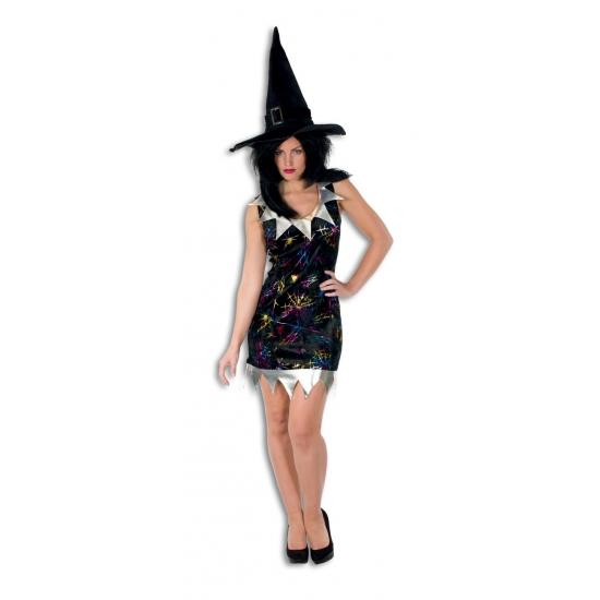 Kort heksen jukje zwart voor dames