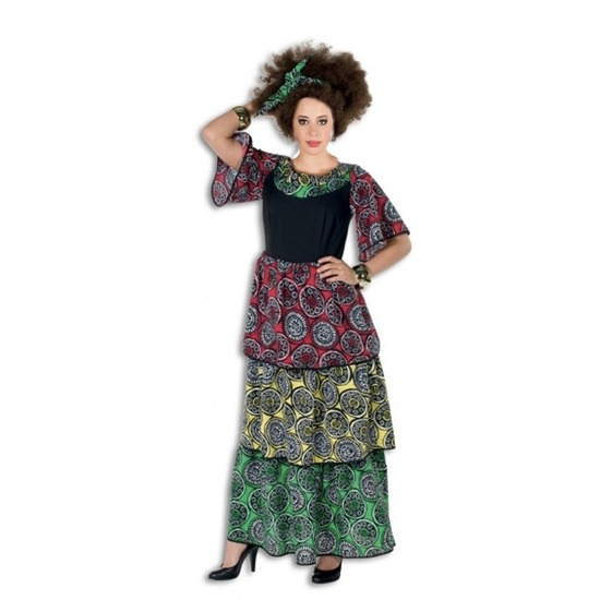 Lange Carribische jurk voor dames