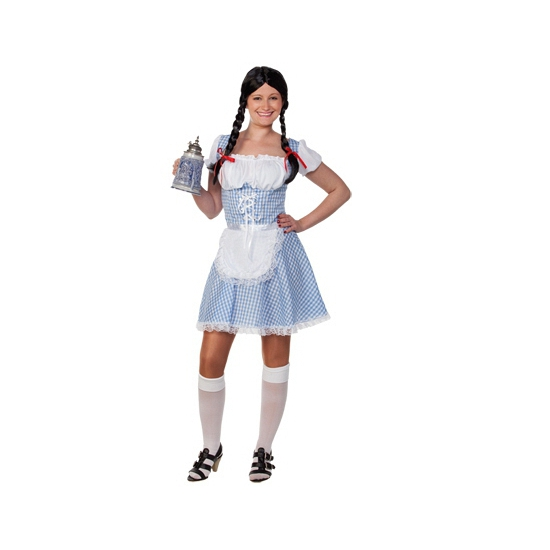 Lichtblauw Tiroler jurkje voor dames