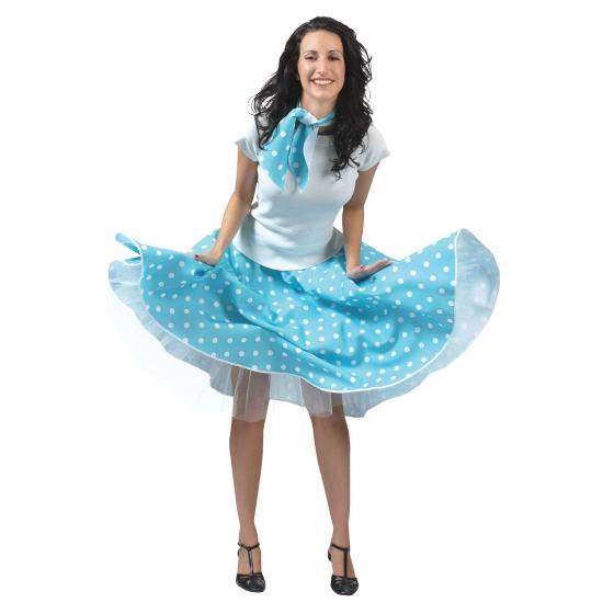 Lichtblauwe jaren 50 rok