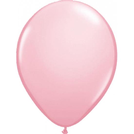 Lichtroze helium ballonnen 50 stuks
