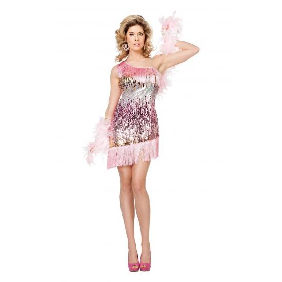 Lichtroze pailletten jurkje voor dames