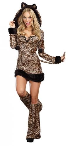 Luipaard jurk kostuum voor dames