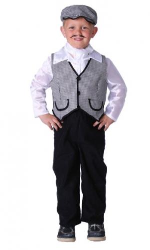 Luxe boeren jongetje kostuum met petje en vest