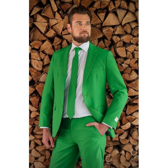 Luxe heren kostuum groen