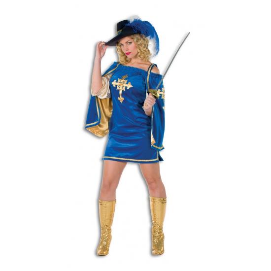 Luxe musketier kostuum voor dames