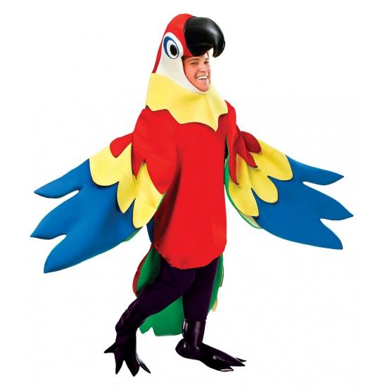 Luxe papegaai kostuum voor volwassenen