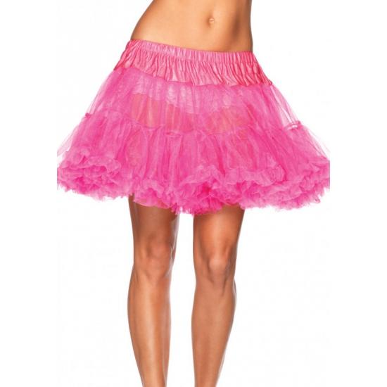 Luxe petticoat voor dames neon roze