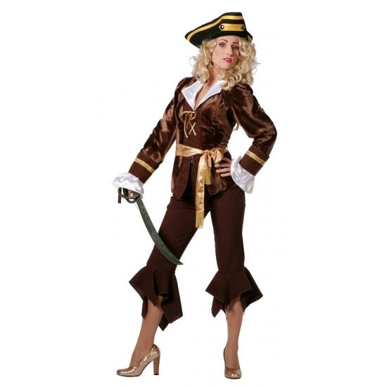 Luxe piraten feestkleding voor dames