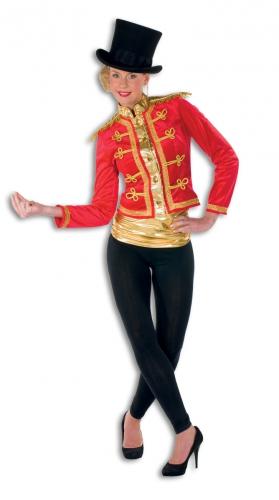Luxe rode circus jas met goud voor dames