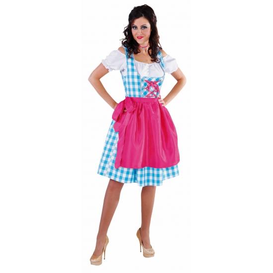 Luxe Tiroler outifit blauw voor dames