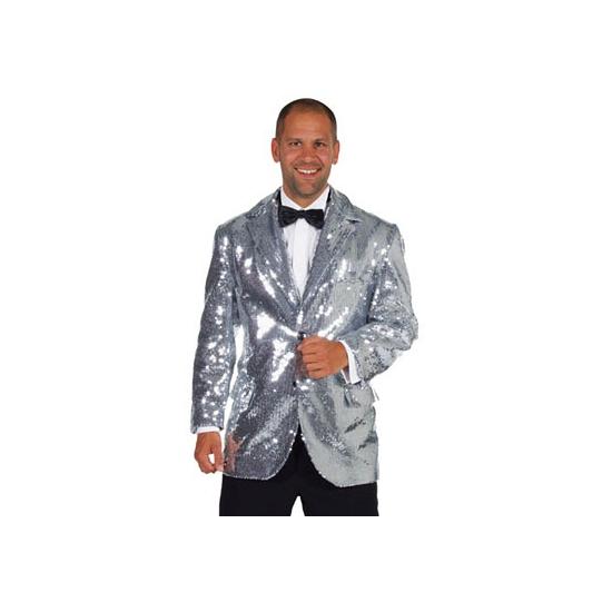 Luxe zilveren glitter colbert heren
