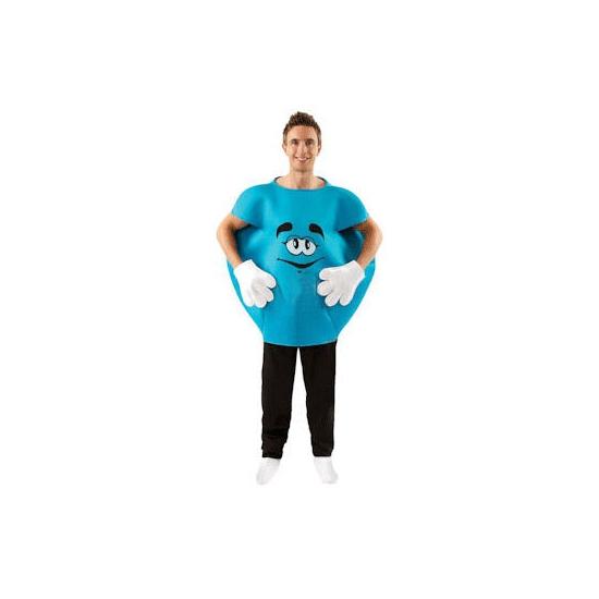 M en M kostuum blauw volwassenen