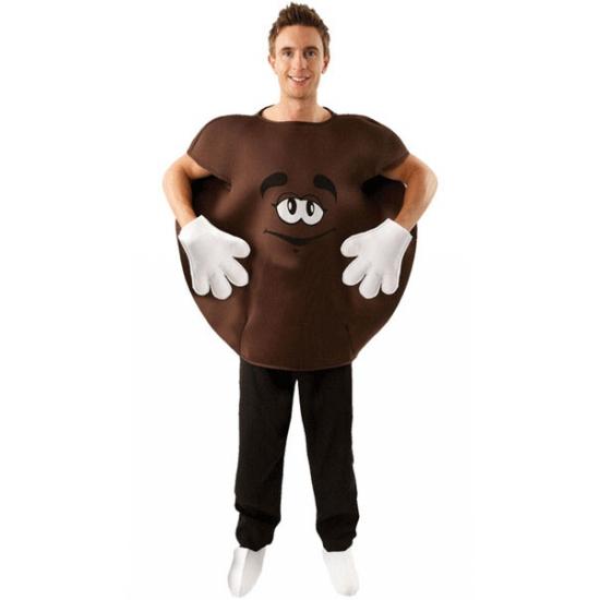 M en M snoepje kostuum bruin