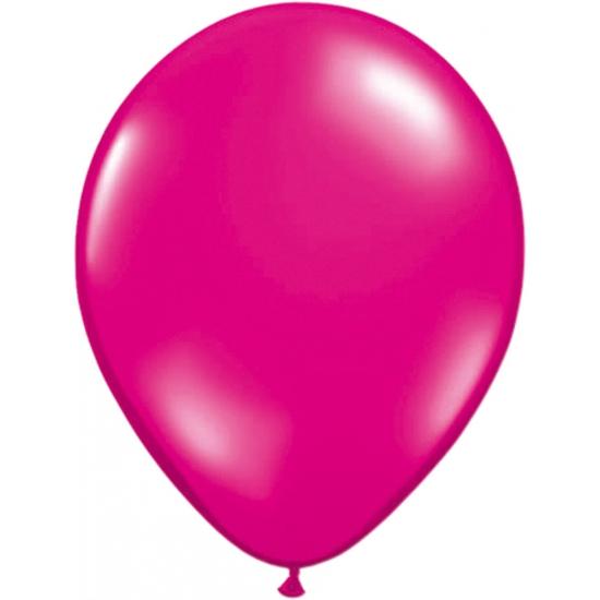 Magenta helium ballonnen 50 stuks