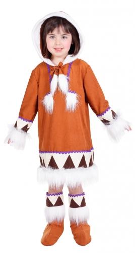 Meisjes eskimo jurkje met laarshoezen