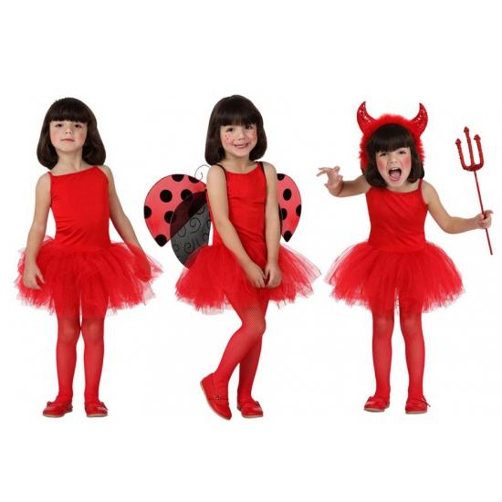 Meisjes verkleed jurkje rood