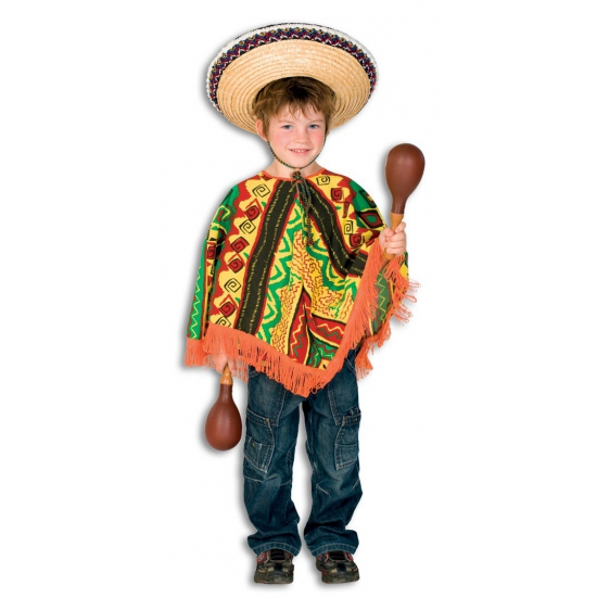 Mexicaanse poncho voor kinderen