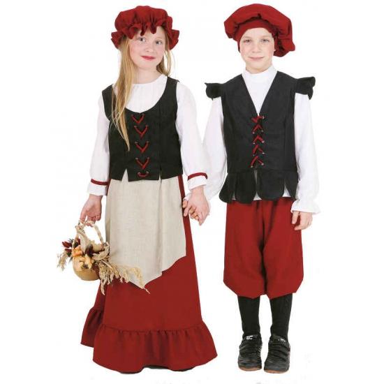 Middeleeuws boerin kostuum voor meisjes