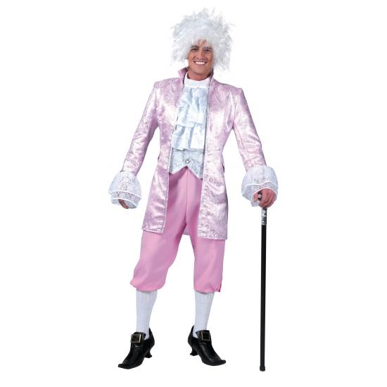 Middeleeuws kostuum roze