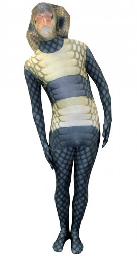 Morphsuit met cobra slangen print
